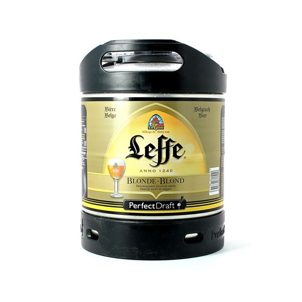 f t de bi re 6 litres leffe blonde 6 6 vol pefect draft. Black Bedroom Furniture Sets. Home Design Ideas